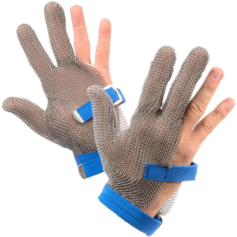 כפפות נירוסטה 3 אצבעות