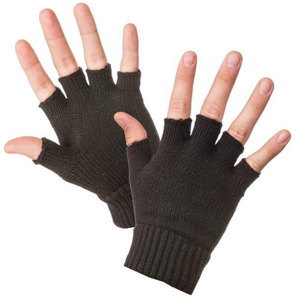 כפפות צמר חצי אצבע