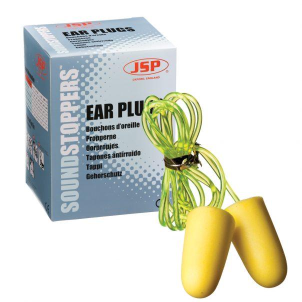 אטמי אוזניים עם חוט 100  בחבילה PU