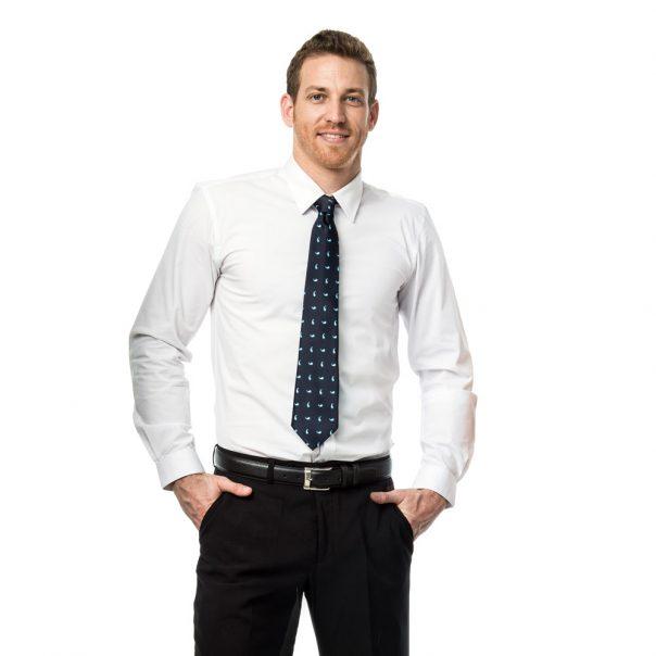 חולצת גבר אלגנט שרוול קצר
