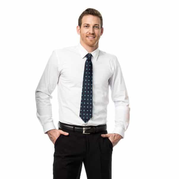 חולצת גבר אלגנט שרוול ארוך