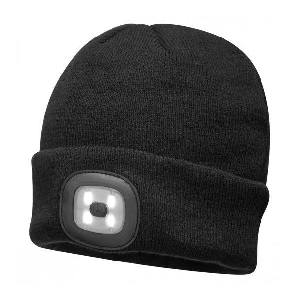 כובע מקצועי + תאורת לד שחור