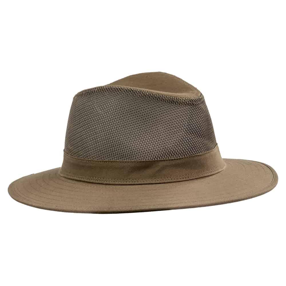 כובע אוסטרלי חצי מאוורר זית