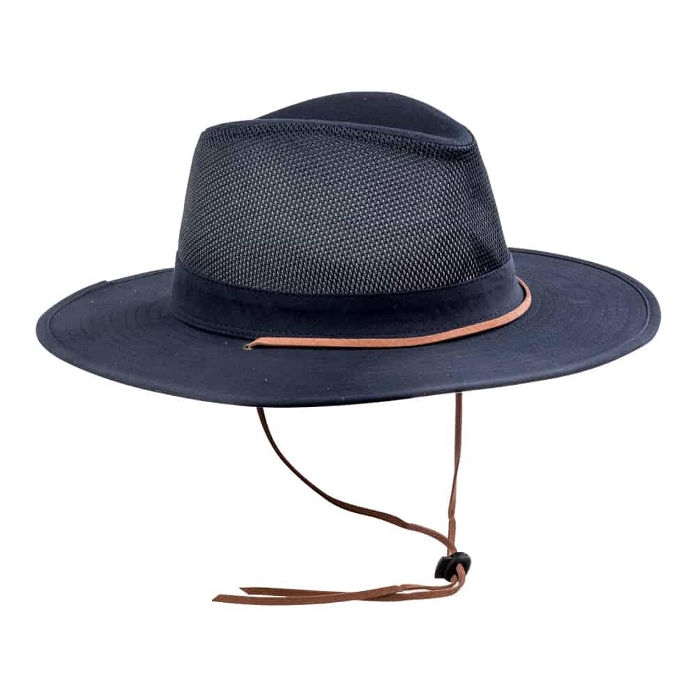 כובע אוסטרלי חצי מאוורר כחול