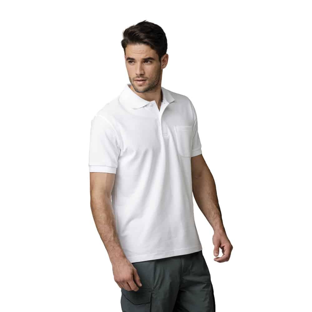 חולצת לקוסט שרוול קצר עם כיס