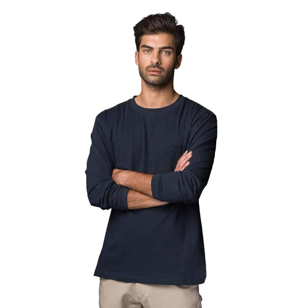 חולצת טריקו שרוול ארוך עם כיס
