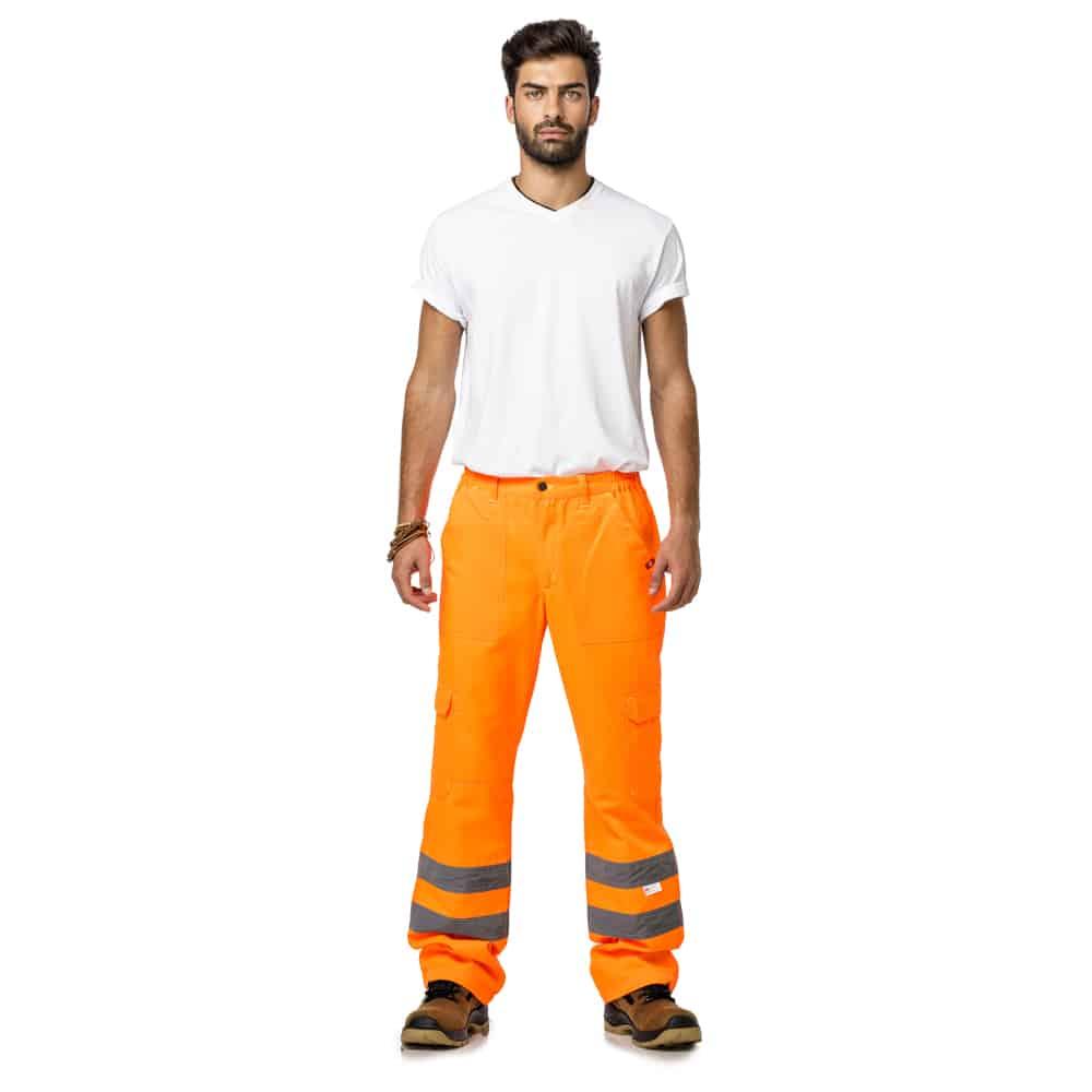 מכנס ניראות גבוהה עם פסים זוהרים
