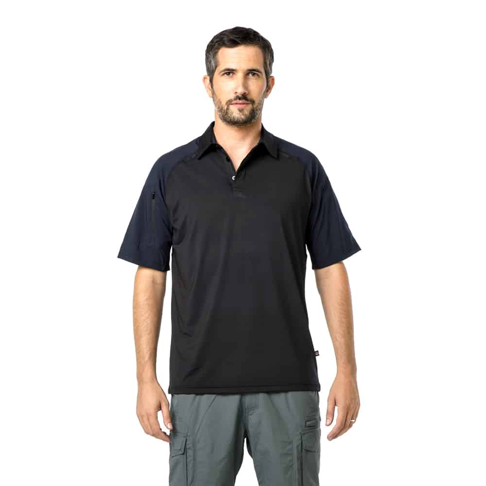 חולצת פולו דריי פיט טקטית משולבת ש.ק