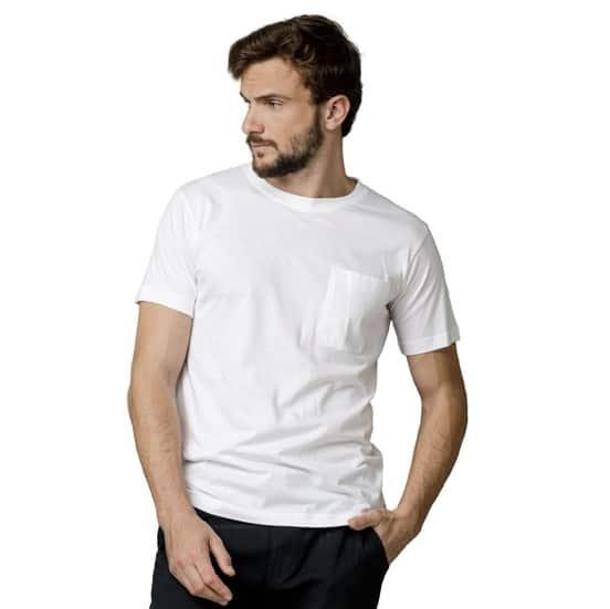 חולצת טריקו בתוספת כיס שרוול קצר