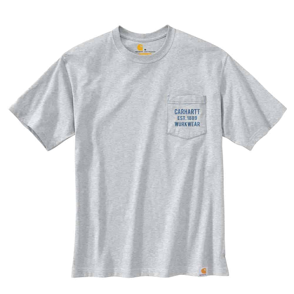POCKET GRAPHIC S/S T-SHIRT H.GREY S 104363.HGY