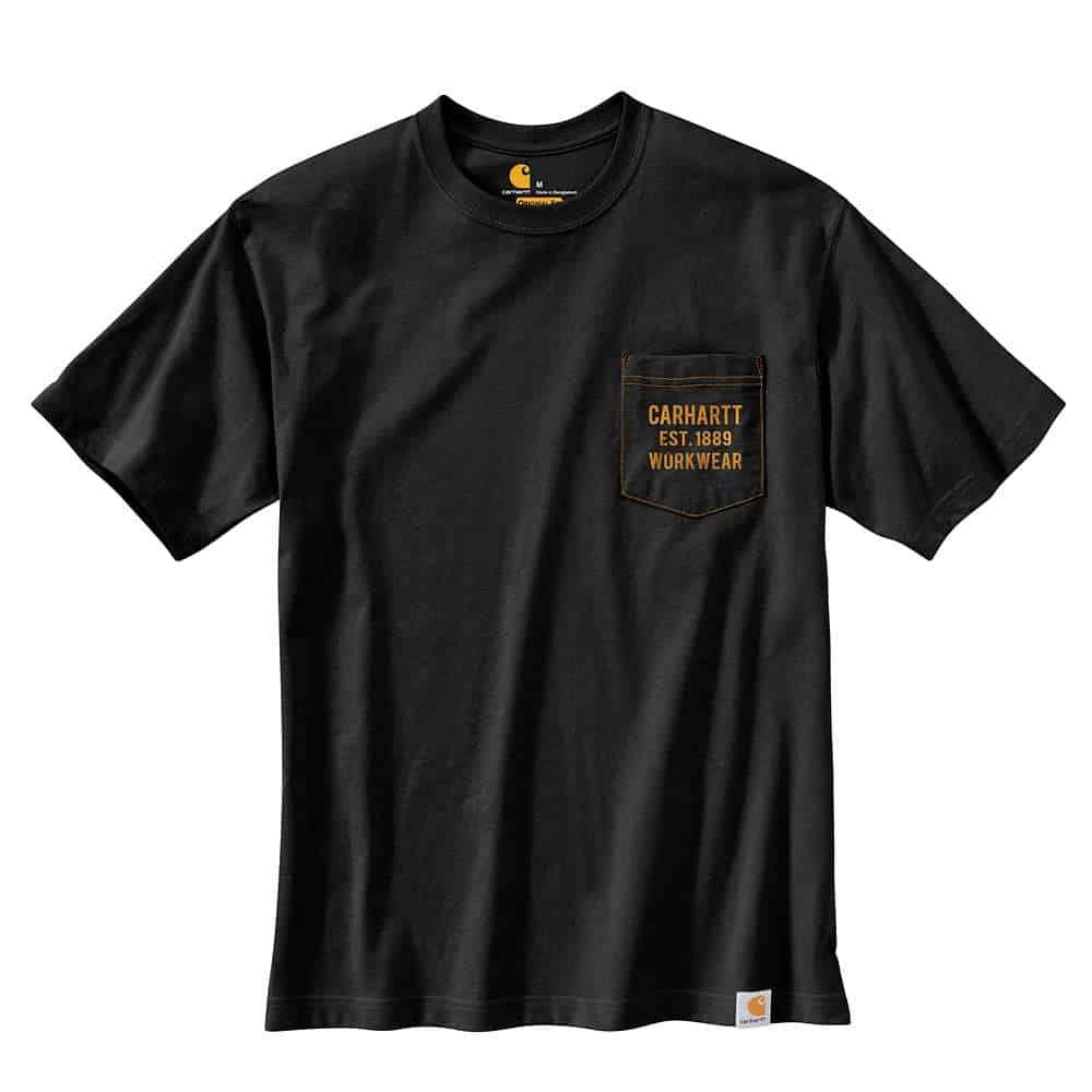 POCKET GRAPHIC S/S T-SHIRT BLACK S 104363.N04