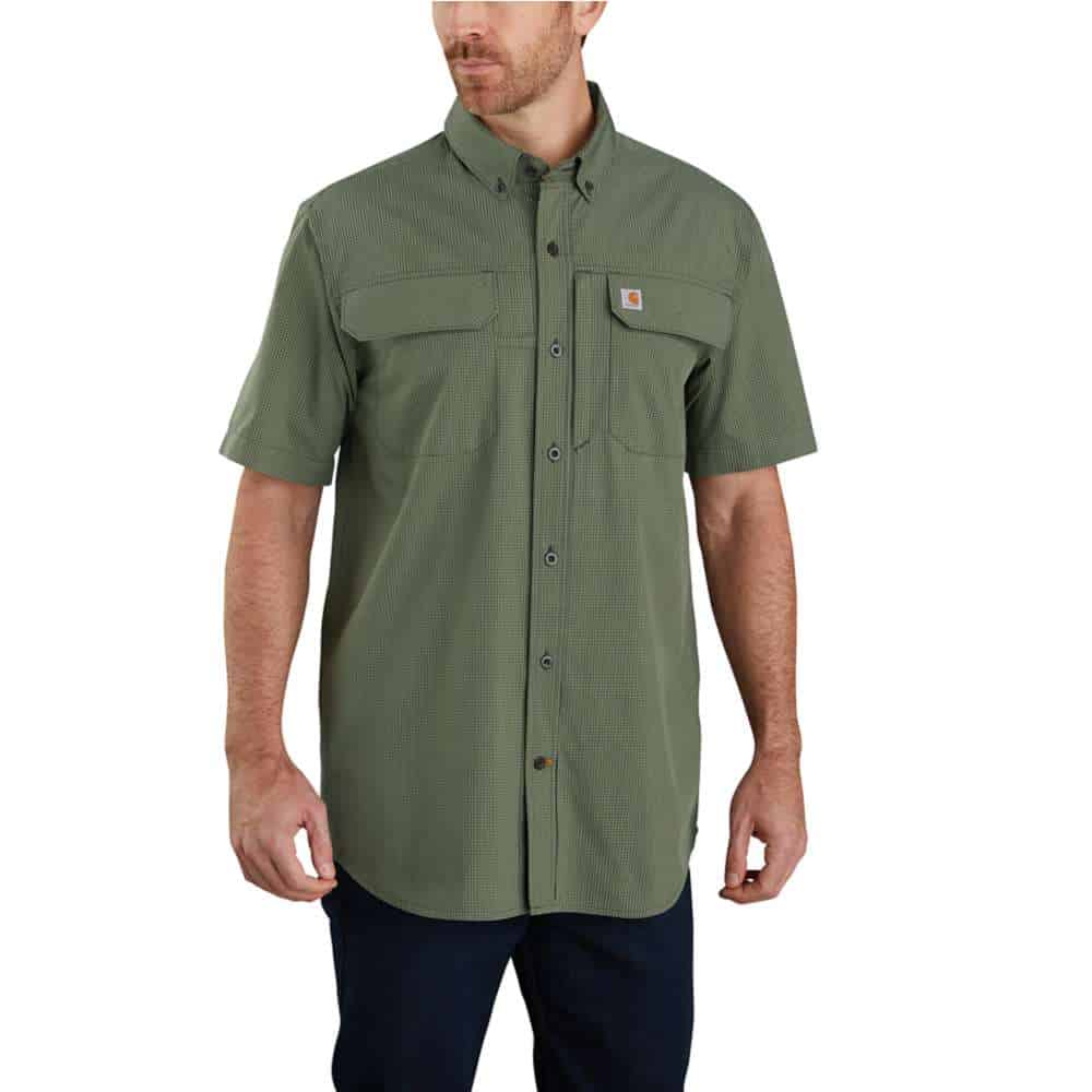 FORCE WOVEN SHIRT S/S PEAT S 104258.306
