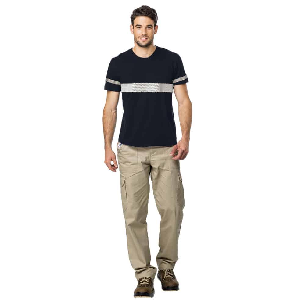 חולצת טריקו פרימיום עם פסים זוהרים מודפסים ש.ק